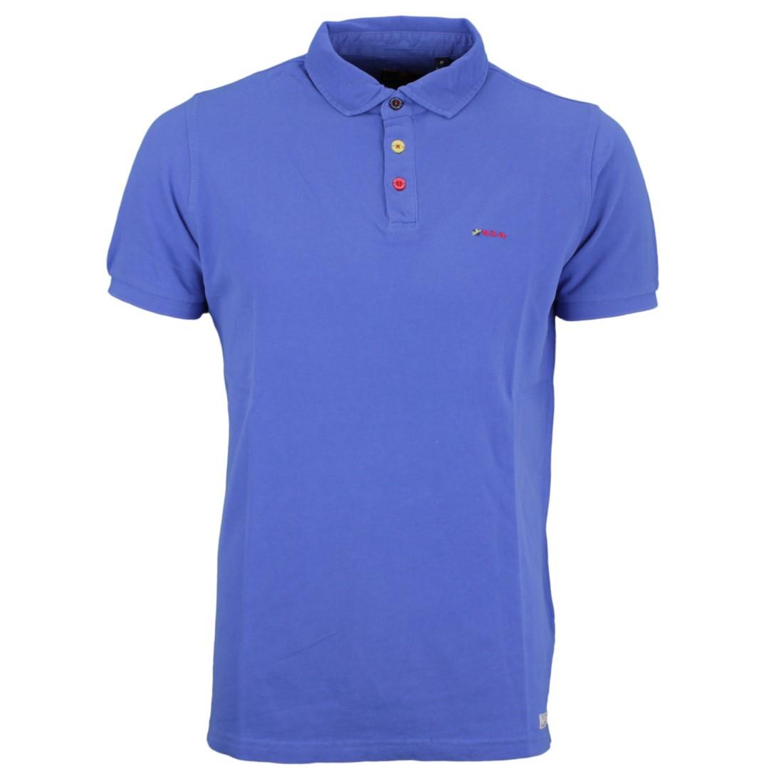 New Zealand Auckland NZA Polo Shirt blau unifarben 20CN150 260 new blue