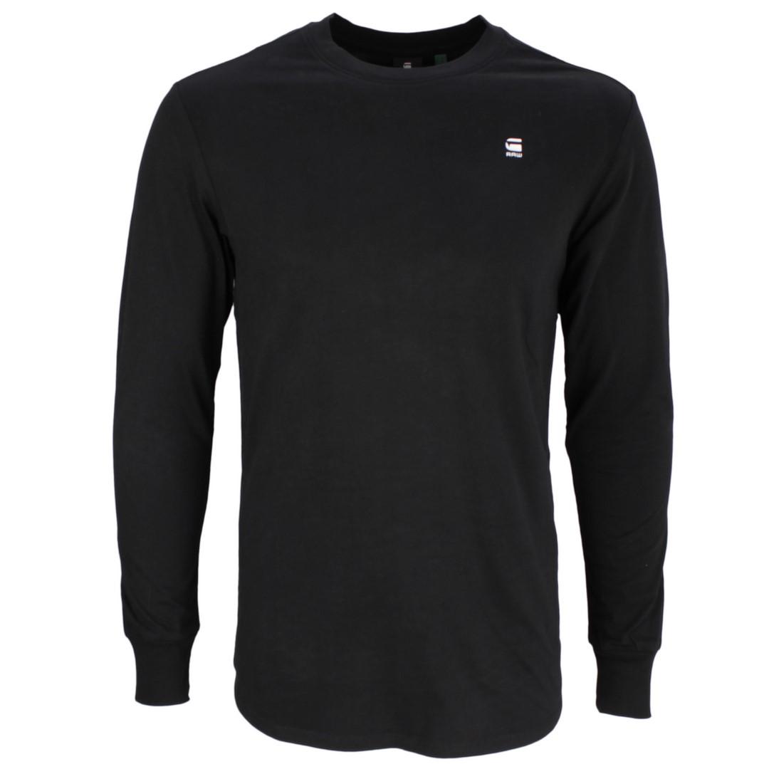 G-Star Raw langarm Shirt Black Lash schwarz unifarben D16397 B353 6484