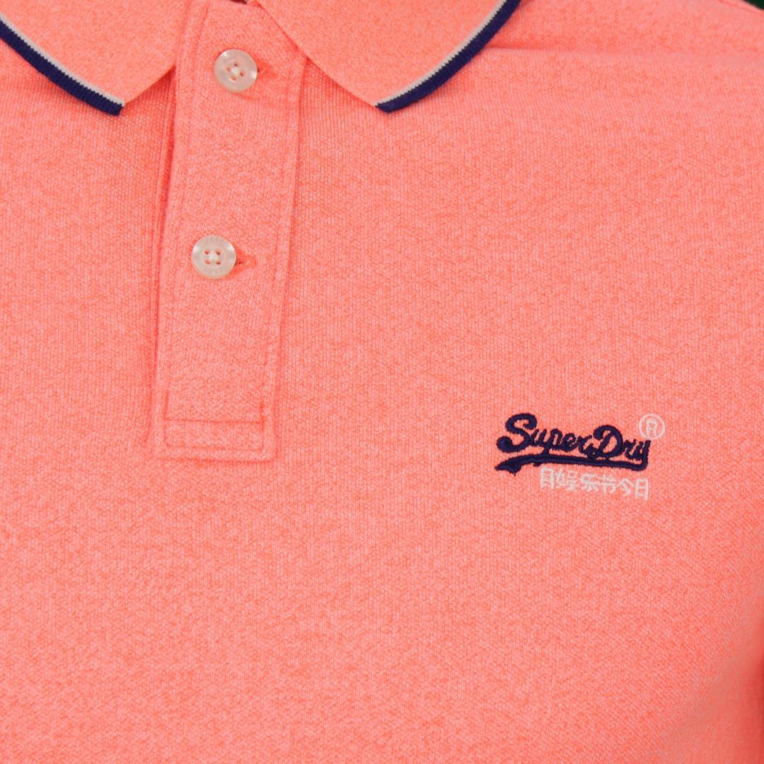 Superdry Herren Polo Shirt Pool Side Piqué orange M1110013A S4R coral
