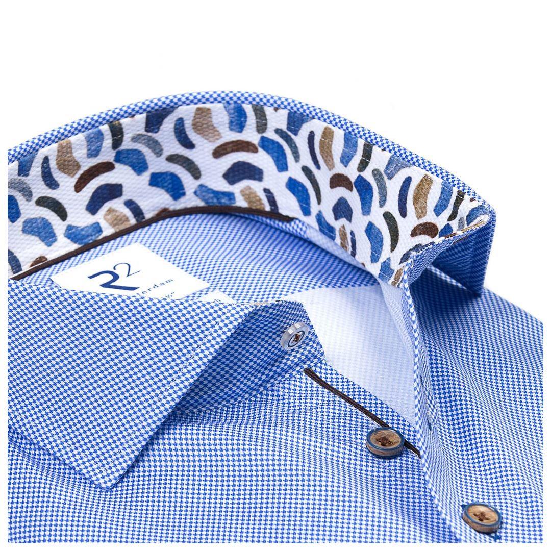 R2 Amsterdam Business Hemd Modern Fit langarm blau 114.WSP.073 018 bleu mininal