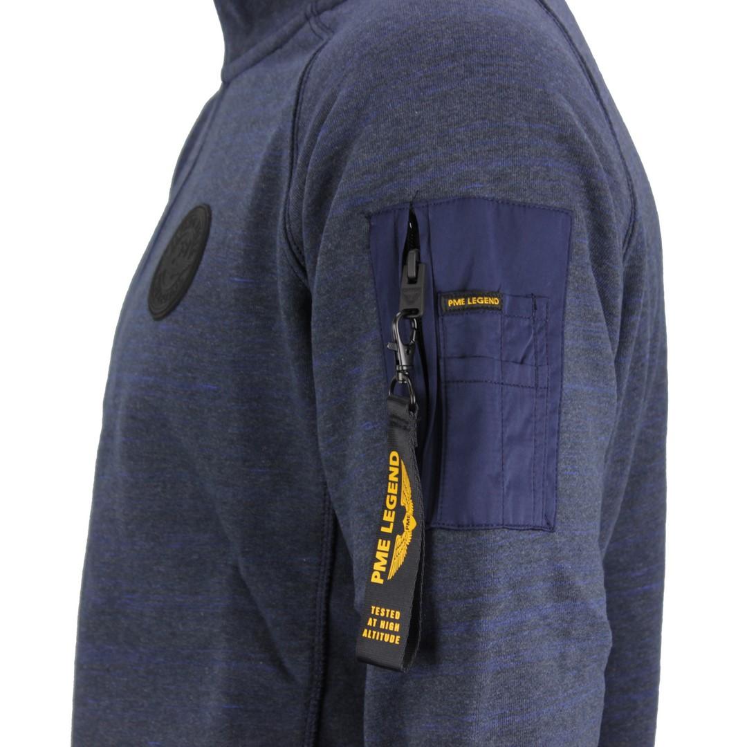 PME Legend Herren Sweat Pullover Troyer blau meliert PSW206416 5288