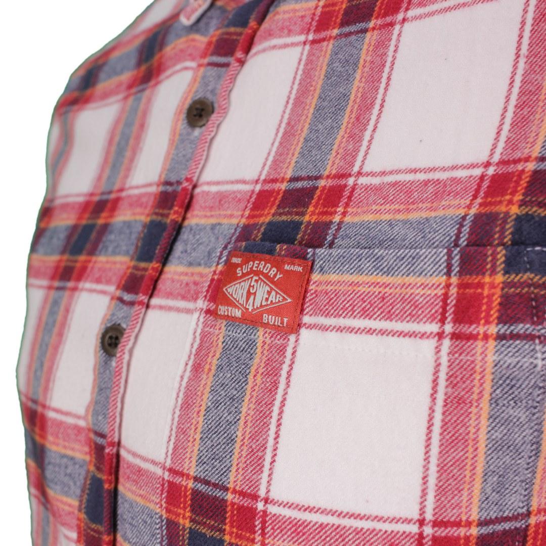 Superdry Freizeithemd mehrfarbig kariert M4010460A 6GJ Portland Check Red Heritage LumberJack Shirt