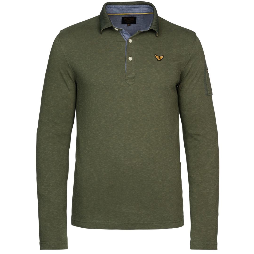 PME Legend Herren Poloshirt Langarm Fine Strip Jerse grau PPS215830 6219 Duffle Bag