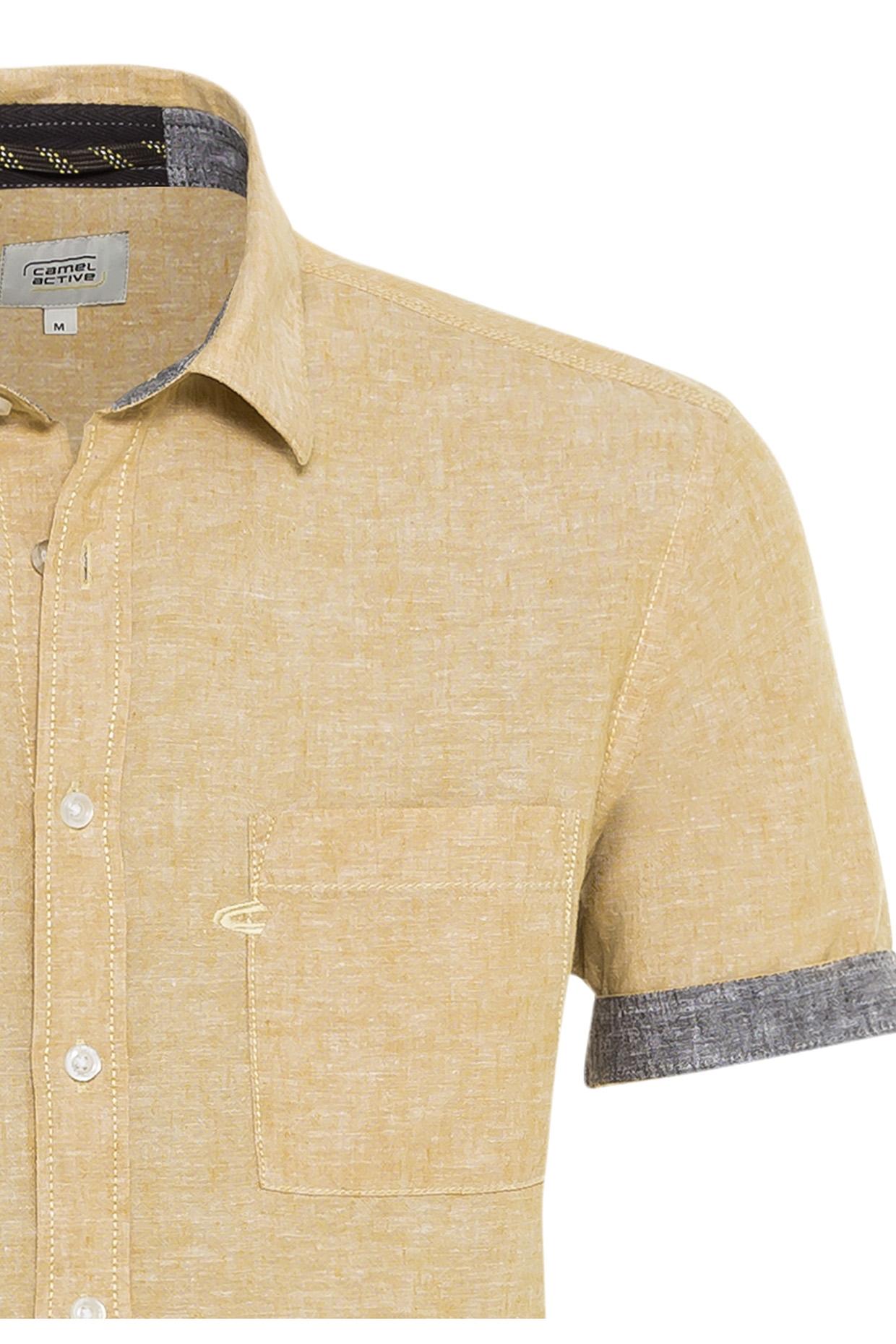 Camel active kurzarm Hemd gelb unifarben 5S49409238 60