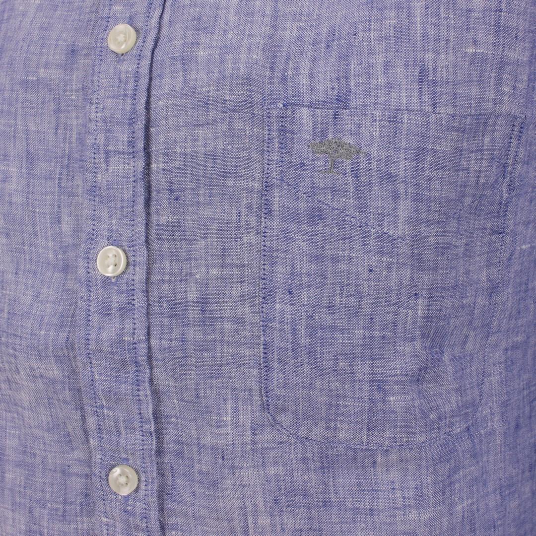 Fynch Hatton Herren Freizeit Leinen Hemd blau unifarben 11216038 6033 navy