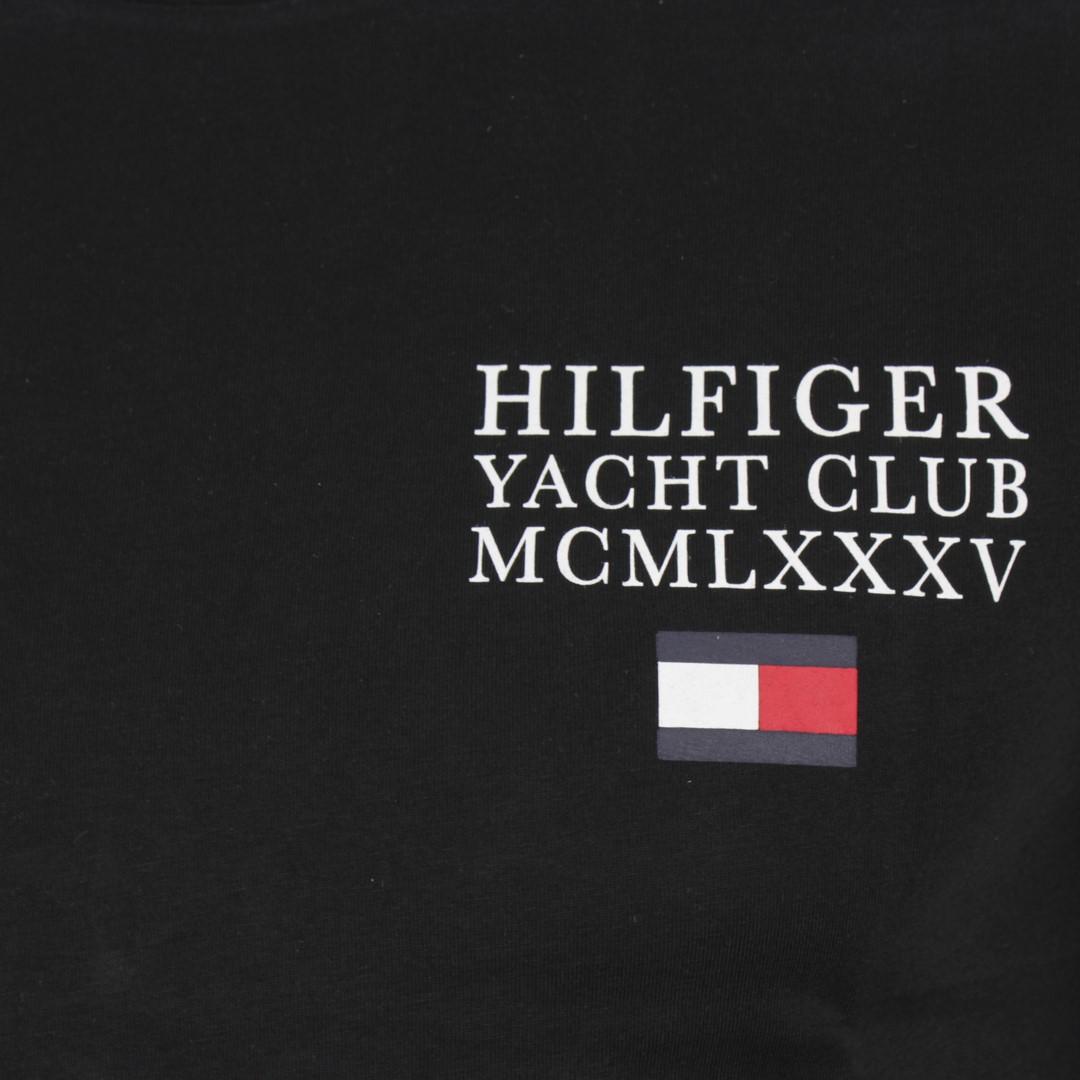 Tommy Hilfiger Herren T-Shirt schwarz unifarben MW0MW13347 BDS