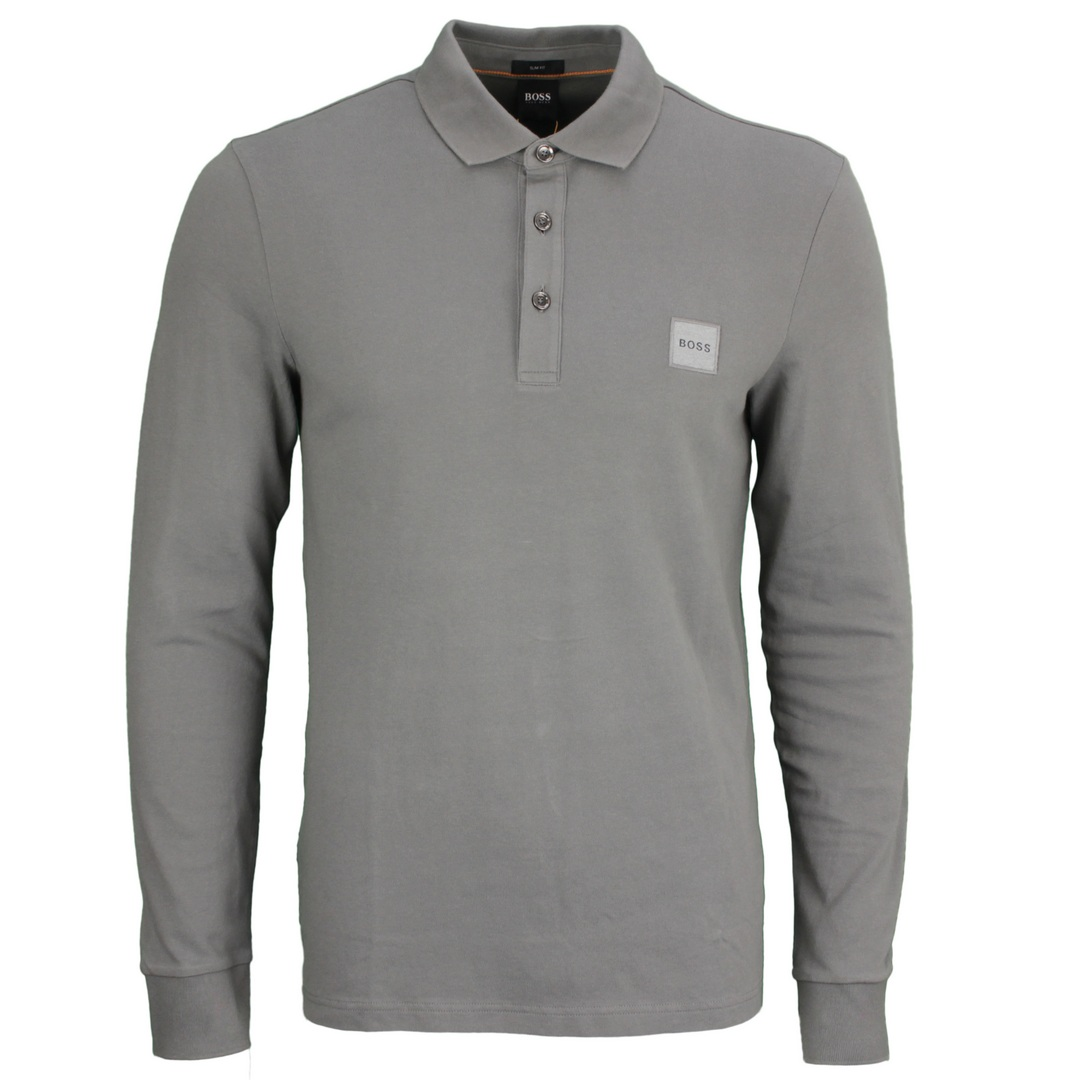 Hugo Boss Rugby Shirt Langarm Shirt Langarmshirt grau Passerby 50462783 029 dark grey