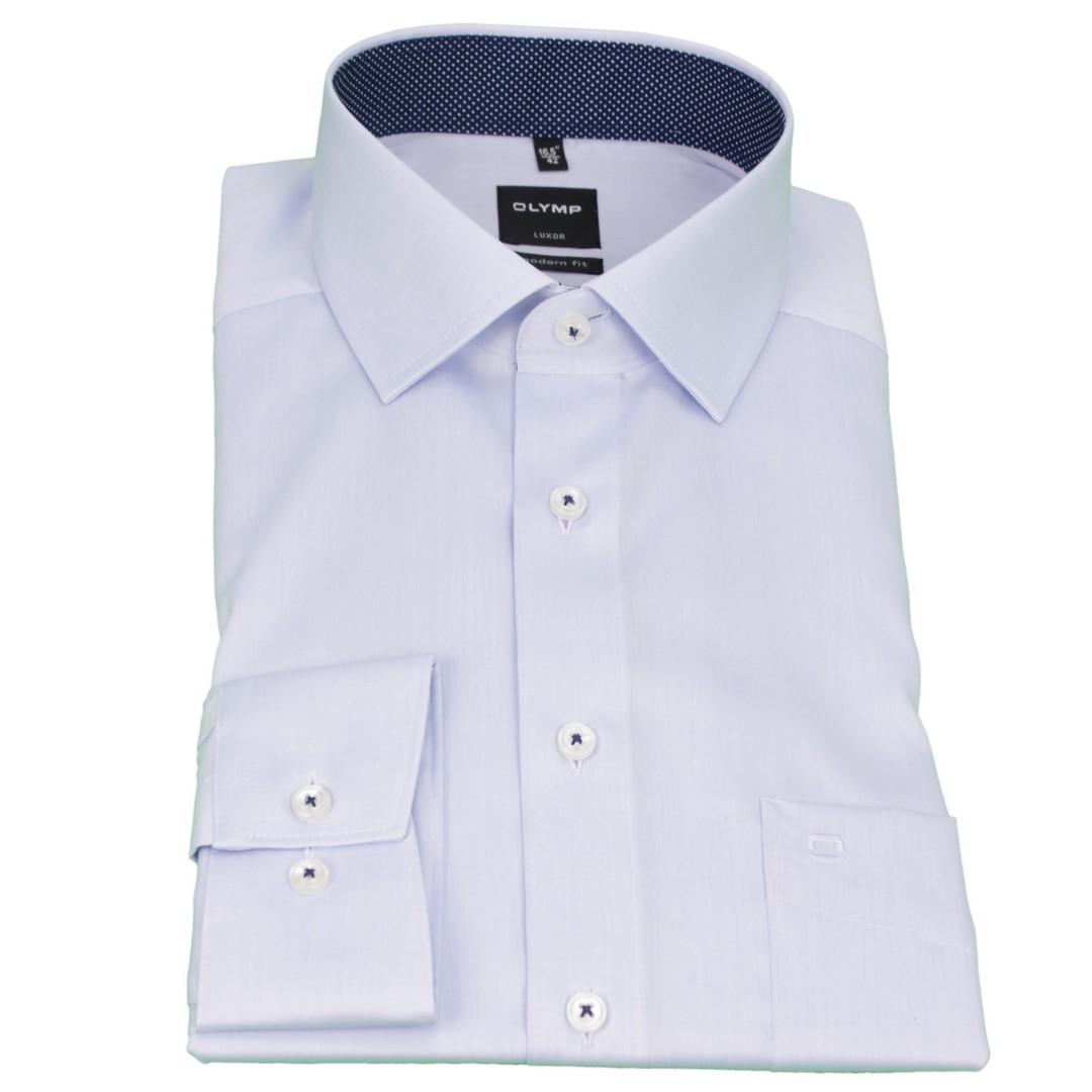Olymp Herren Luxor Modern Fit Hemd blau Unifarben 1882 91 11