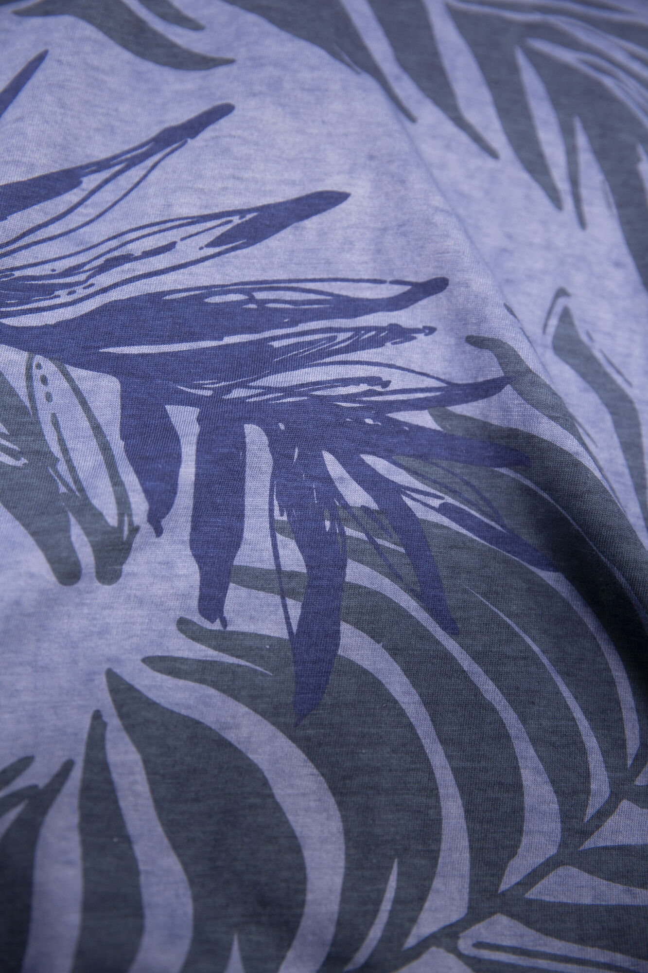 Garcia Herren T-Shirt Shirt kurzarm blau Palmen Muster E11004 4962 Denim Blue