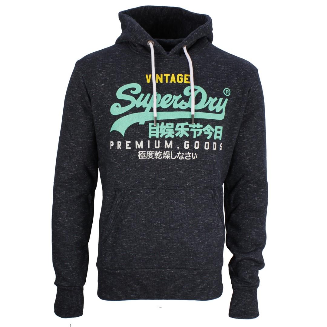 Superdry Sweat Pullover VL TRI Hood blau M2010429B 3ZG eclipse navy feeder