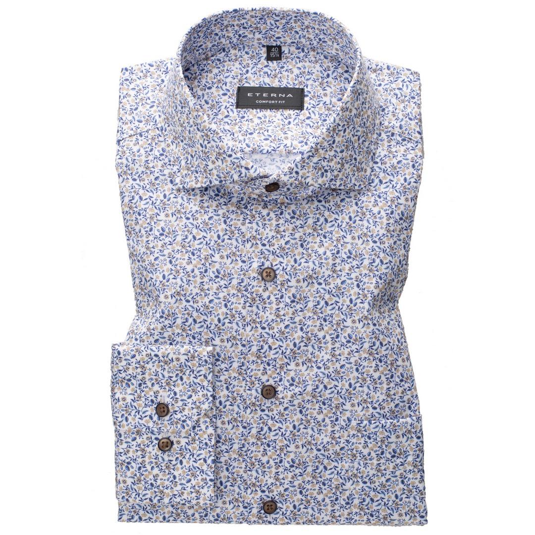 Eterna Comfort Hemd mehrfarbig geblümt 3423 E18V 22