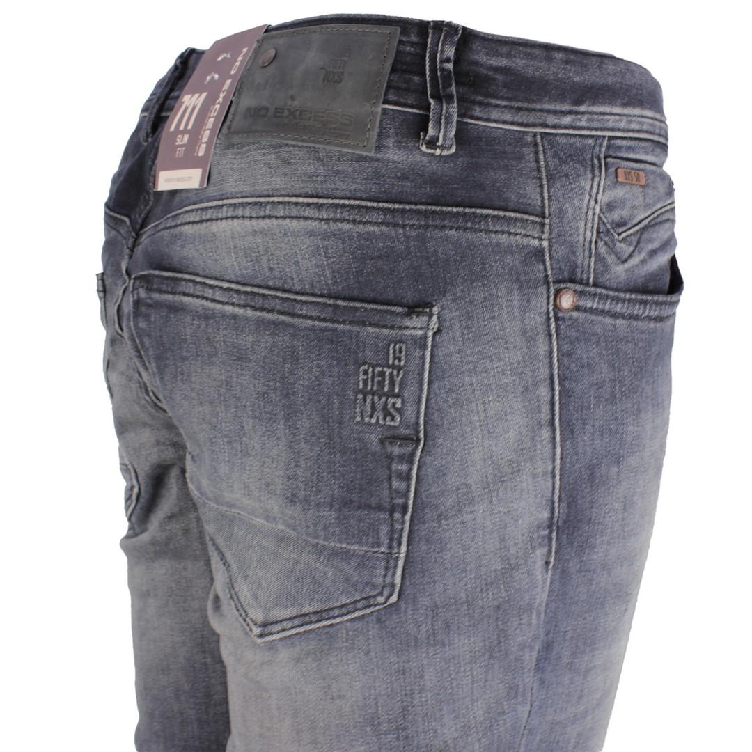 No Excess Jeans Hose Denim grau blau N711D47 224