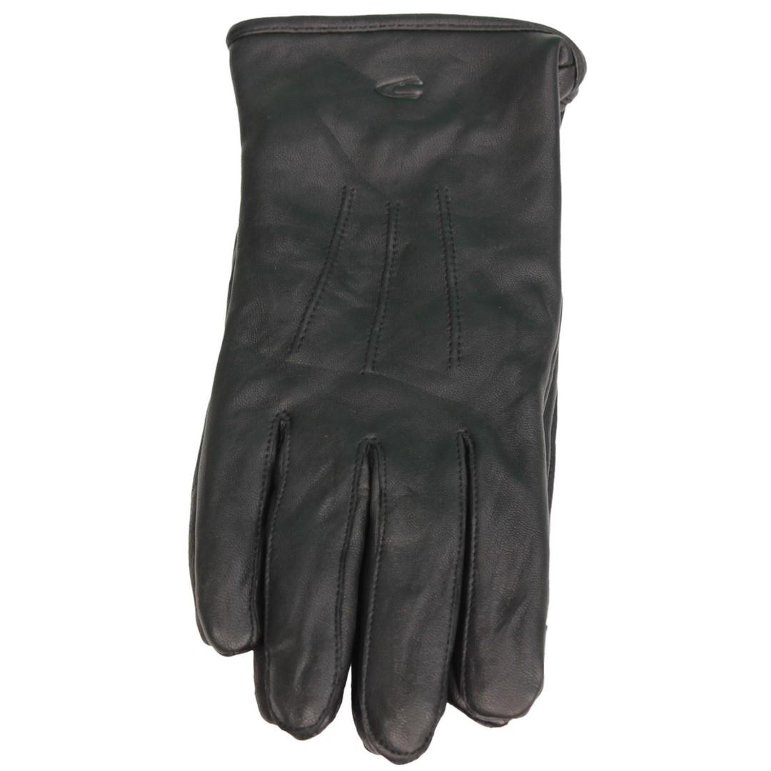 Camel active Herren Leder Handschuhe schwarz 8G25 408250 09