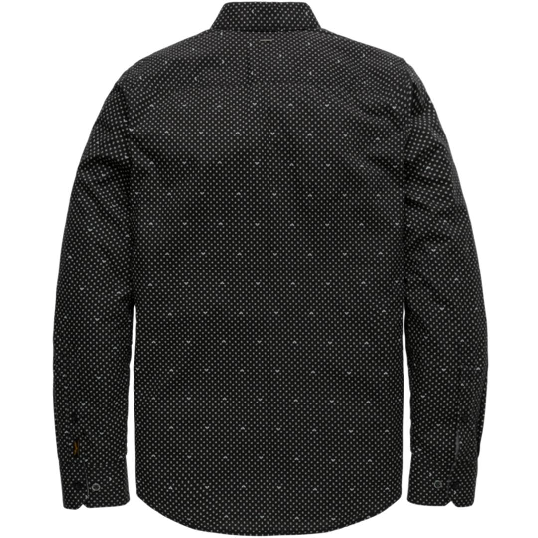 PME Legend Freizeit Hemd schwarz Minimal Muster PSI207217 5288