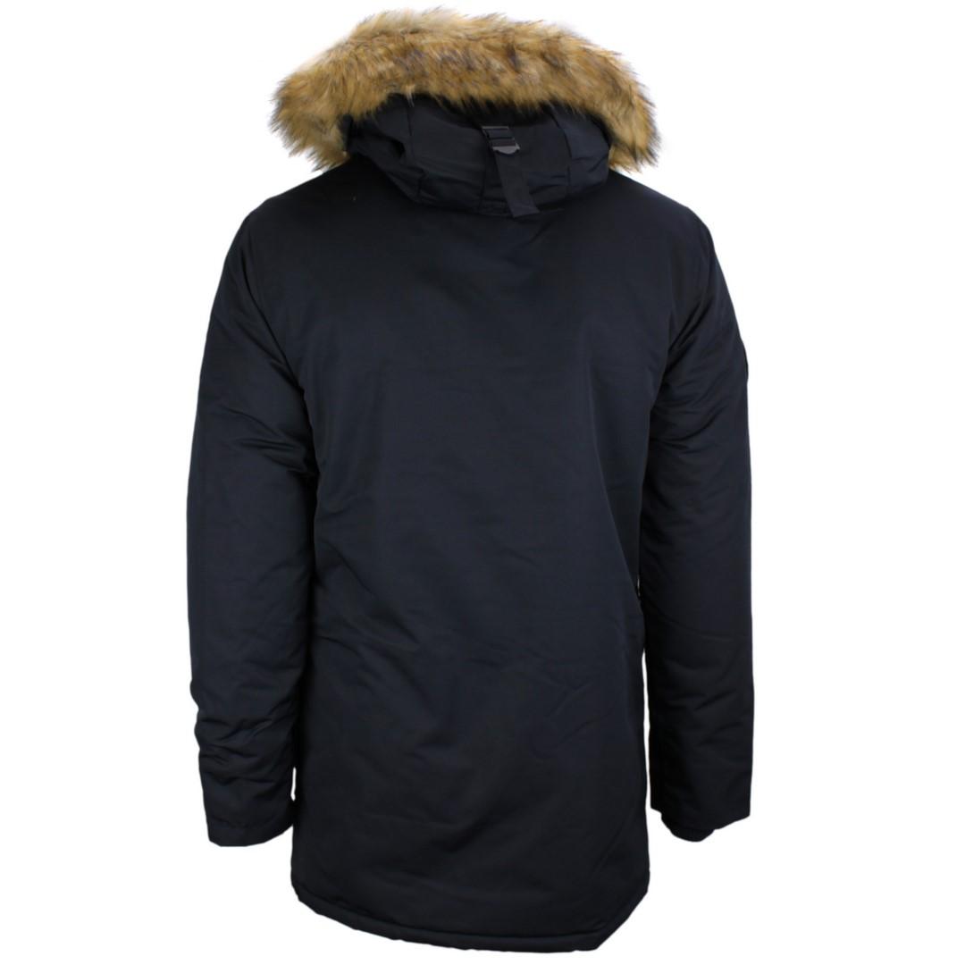 Superdry Herren Winter Jacke Everest Parka blau M5010204A 98T Eclipse Navy