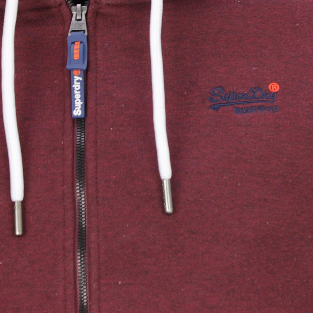 Superdry Herren Sweat Jacke Orange Label Classic rot M2000022A R6P burgund