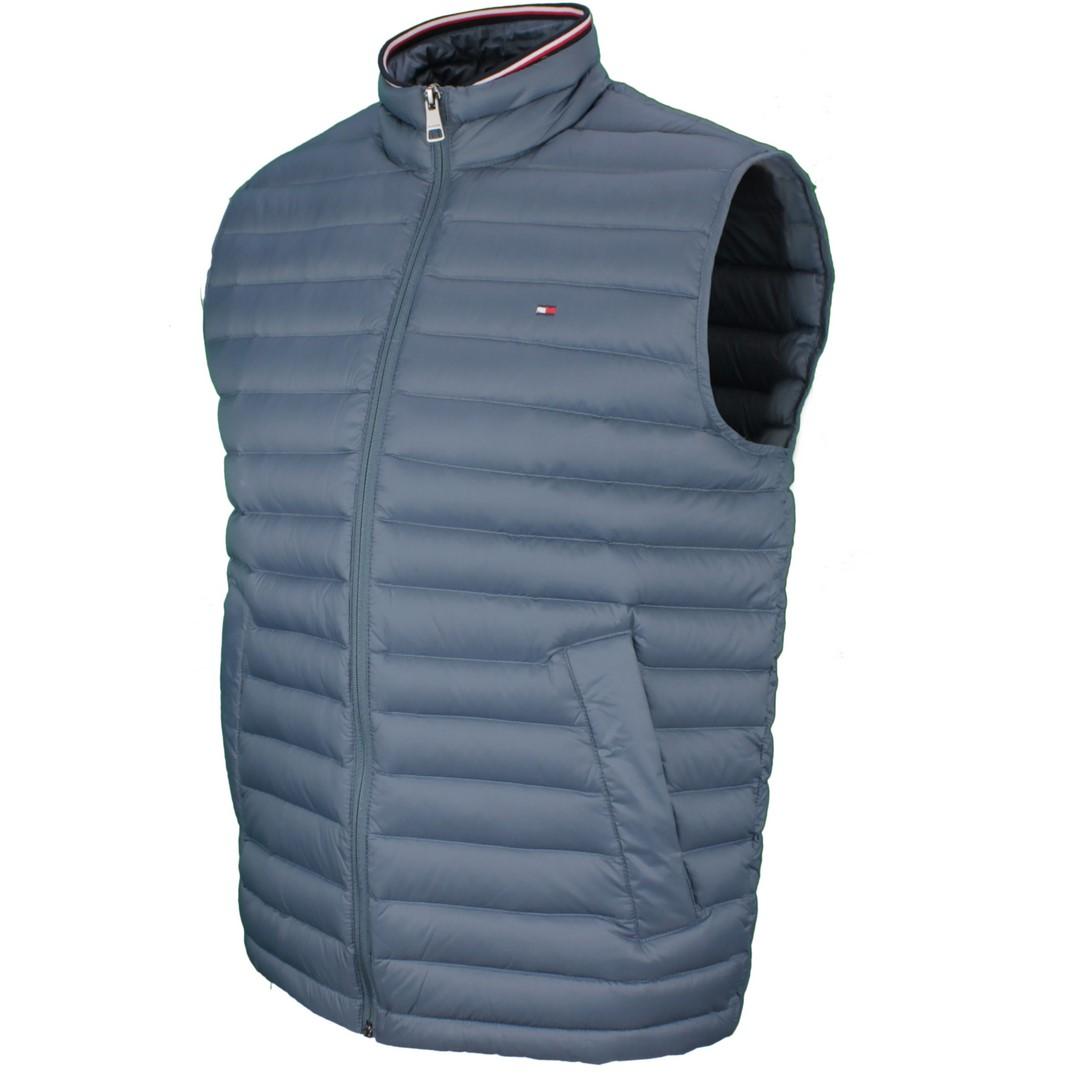 Tommy Hilfiger Herren Weste Packable Down Vest blau gesteppt MW0MW14607 DA4 Blue