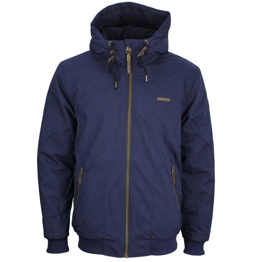 Ragwear Herren Vegane Winter Jacke blau unifarben Stewie 2022 60003 2028 navy