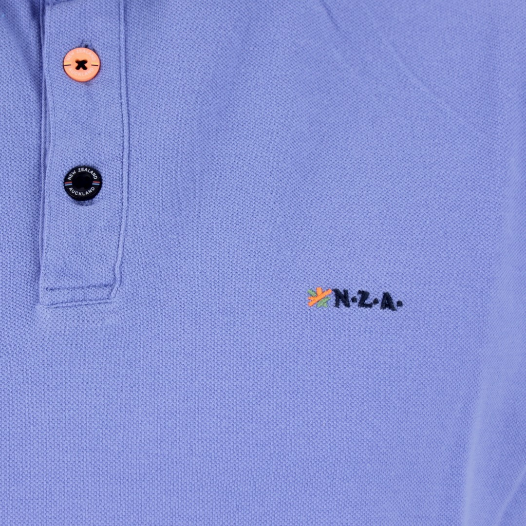 New Zealand Auckland NZA Polo Shirt blau unifarben 20CN150 259 fresh blue