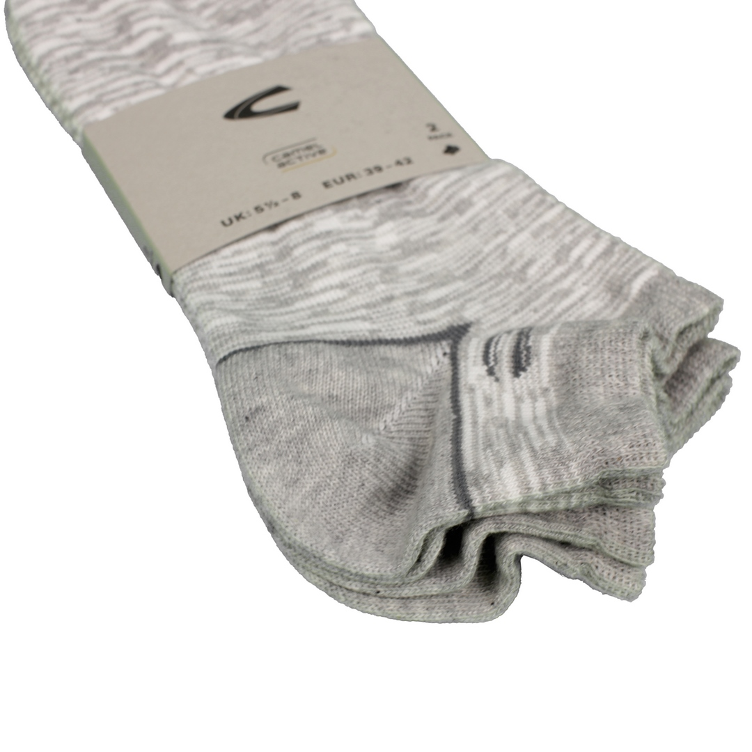 Camel active Sneaker Socken Doppelpack grau 6209 101