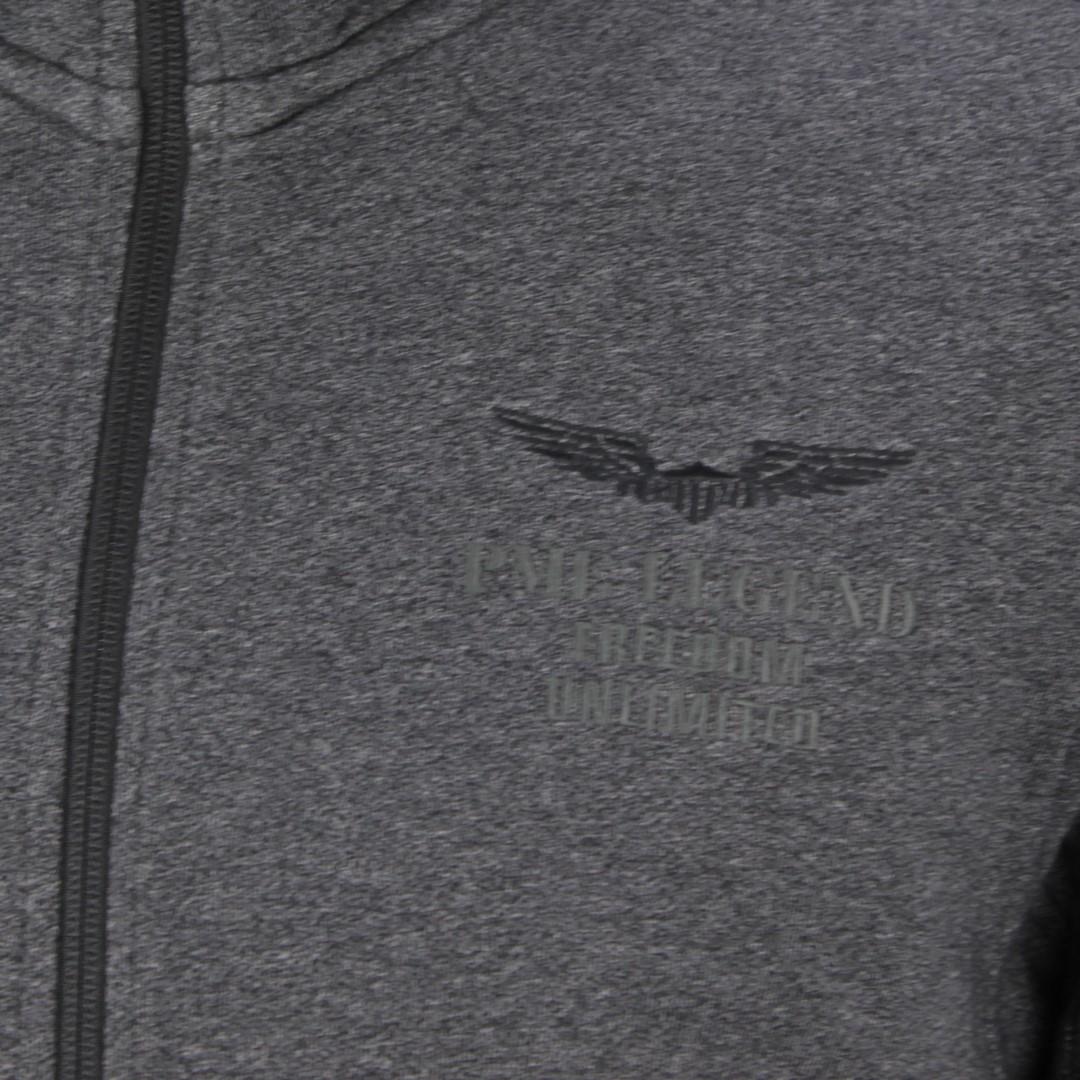 PME Legend Herren Sweat Jacke Diagonal Terry grau unifarben PSW206419 996