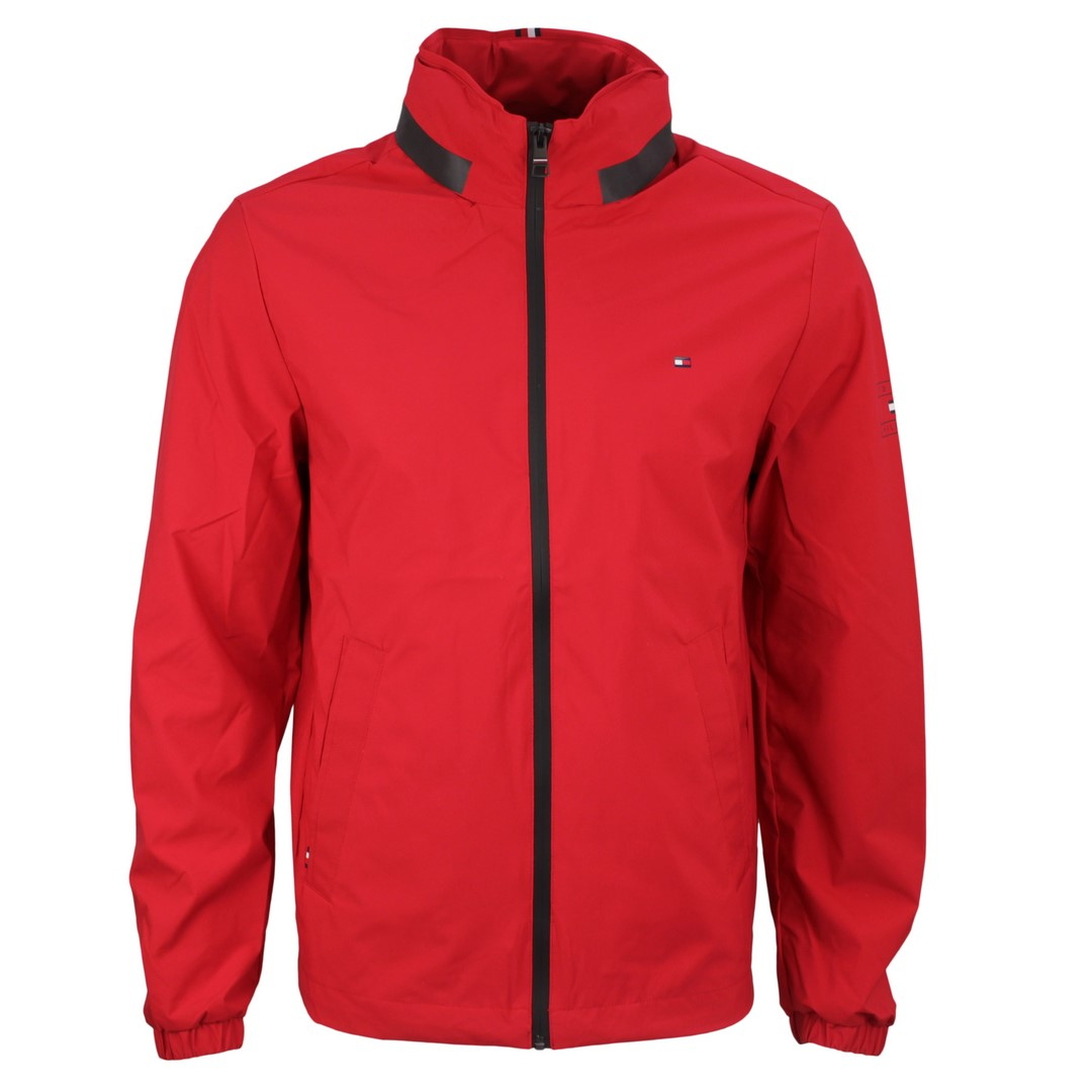 Tommy Hilfiger Herren Jacke Stand Collar Jacket Outdoor rot MW0MW17421 XLG Primary Red