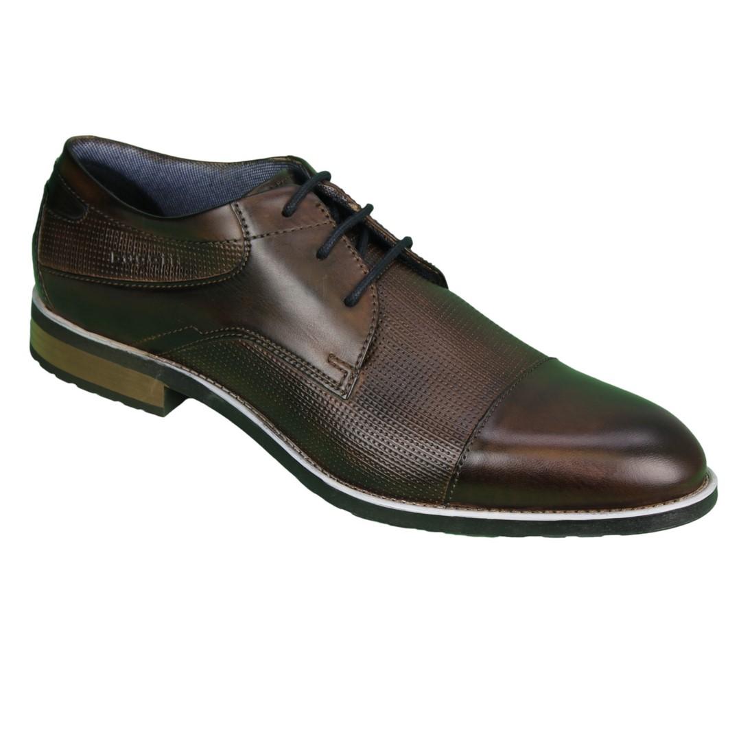 Bugatti Herren Schuhe Schnürschuhe dunkel braun 312 84202 3500 6000 brown