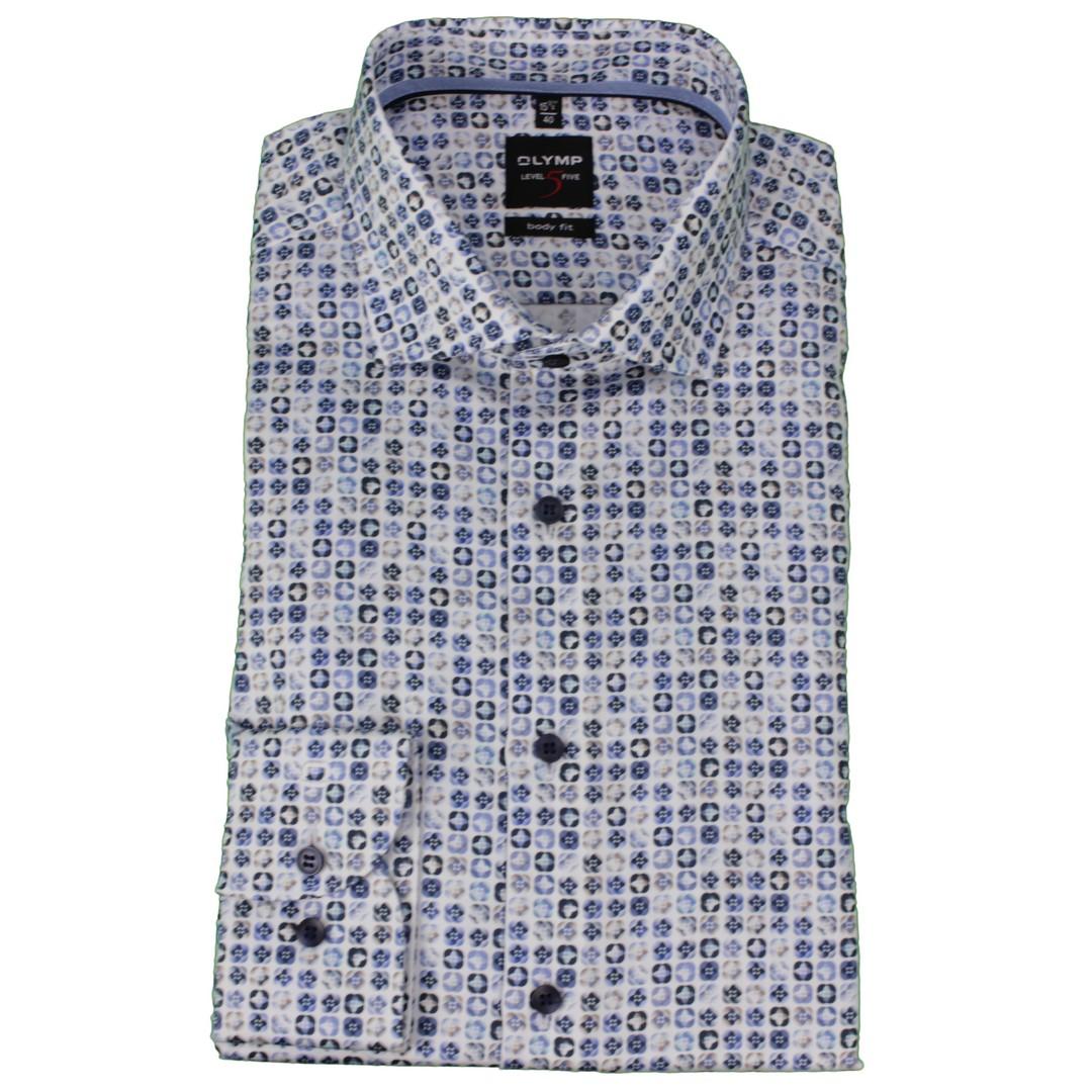 Olymp Herren Body Fit Hemd Level 5 mehrfarbig gemustert 210074 11