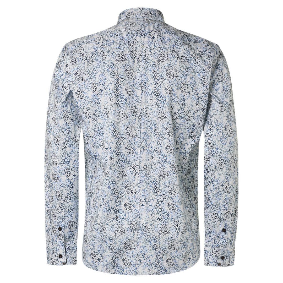 No Excess Herren Freizeit Hemd Freizeithemd blau gemustert 97430702SN 078 night