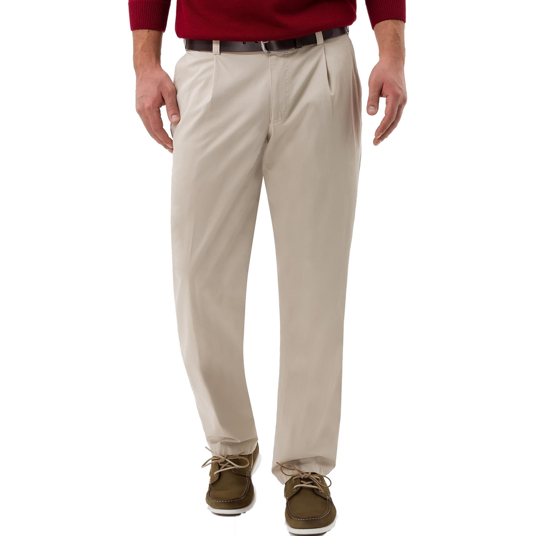 Eurex Bundfaltenhose Pima Cotton Gabardine Style Luis 347 52 1607 57 05831620 57