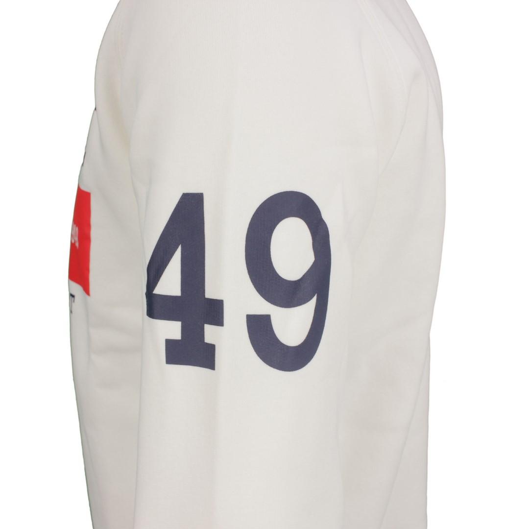 Gant Herren Sweat Pullover Nautical C-Neck Sweat weiß 2046075 113 Egg Shell