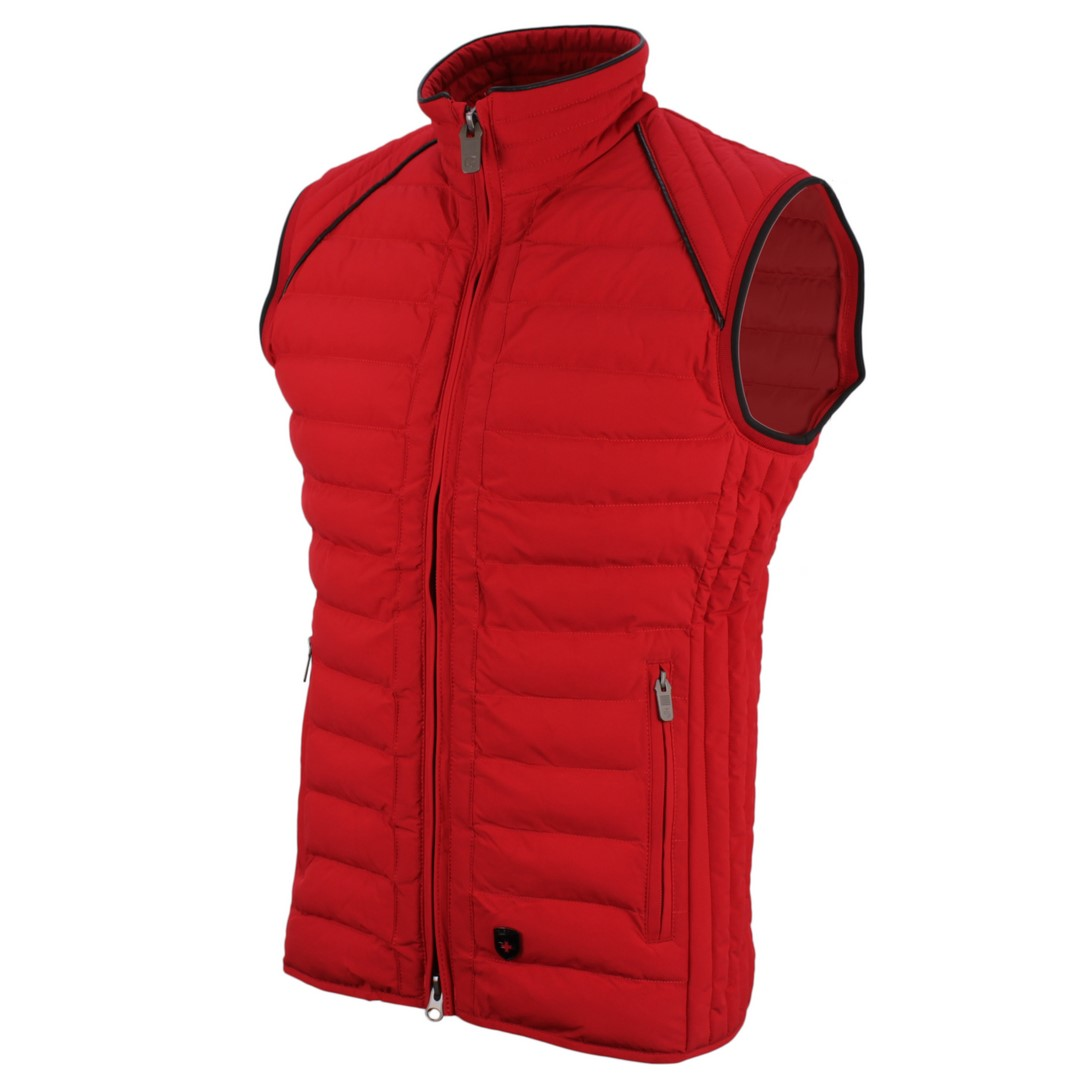 Wellensteyn Herren Weste MOL Men Vest rot Unifarben MOVM 719 red