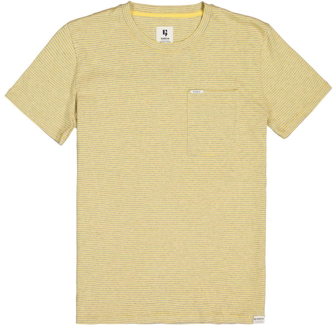 Garcia Herren T-Shirt Shirt kurzarm gelb grau gestreift C11009 3326 Sunset