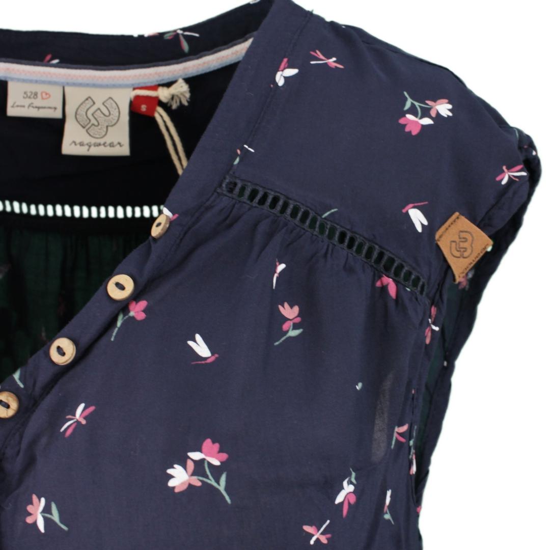 Ragwear Damen Bluse Shirt Salty A blau gemustert 2111 10031 2028 navy