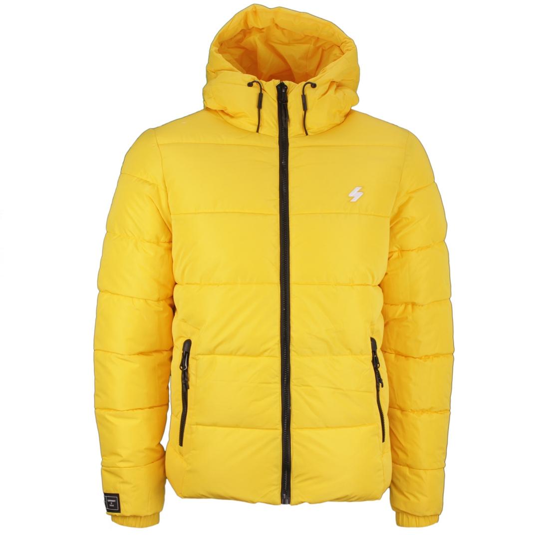 Superdry Winter Stepp jacke gelb M5011212A NW1 Nautical yellow Hooded Sport Puffer