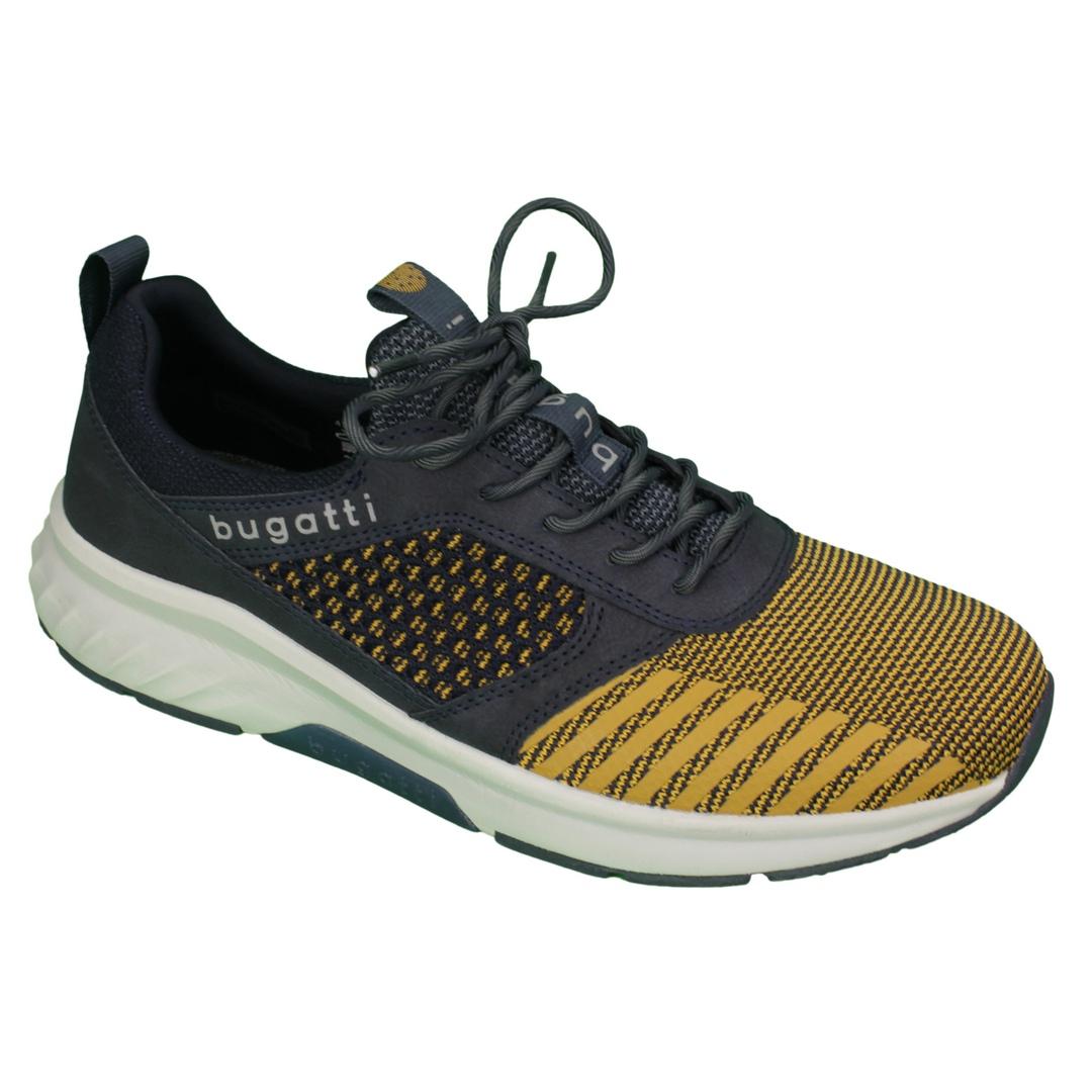 Bugatti Herren Schuhe Schnürschuhe Sneaker dunkelblau gelb  342 A4N60 6900 8100 multicolour