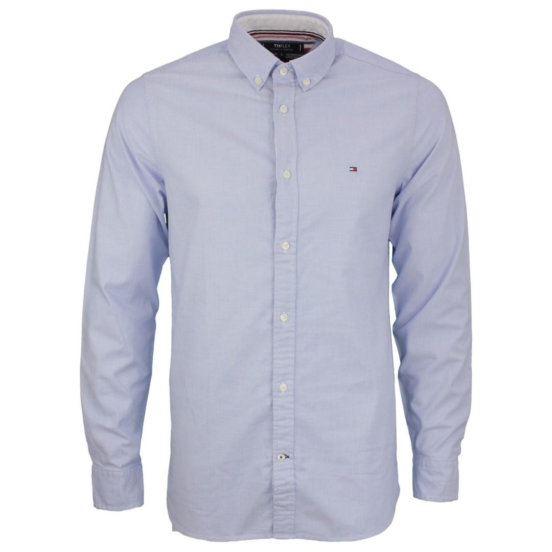 Tommy Hilfiger Hemd Slim Flex Dobby Shirt blau MW0MW17640 C39 CopenhagenBlue