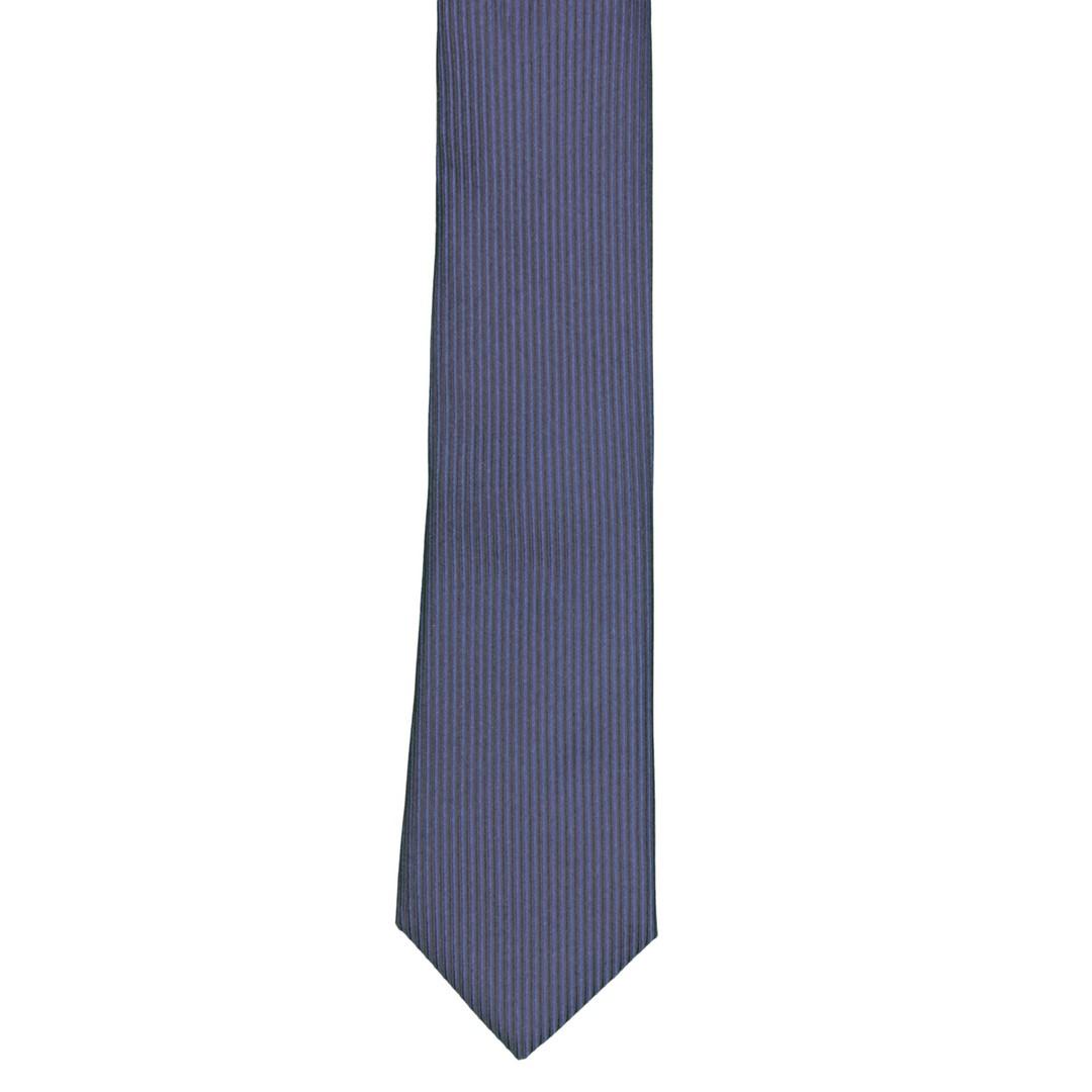 Krawatte Seide schmal blau Strukturiert Strick 3341 navy