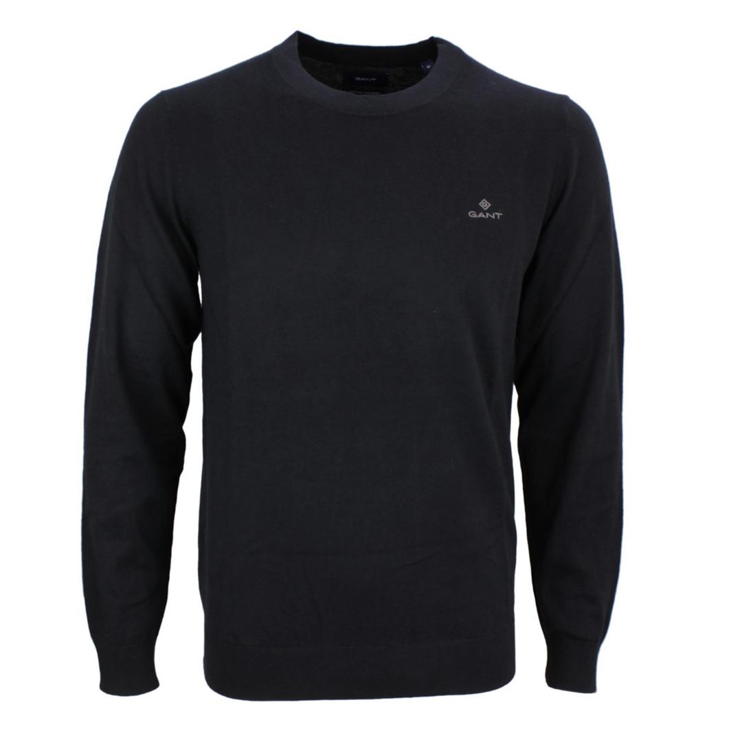 Gant Herren Strick Pullover Cotton Cashmere schwarz 8050063 5 black