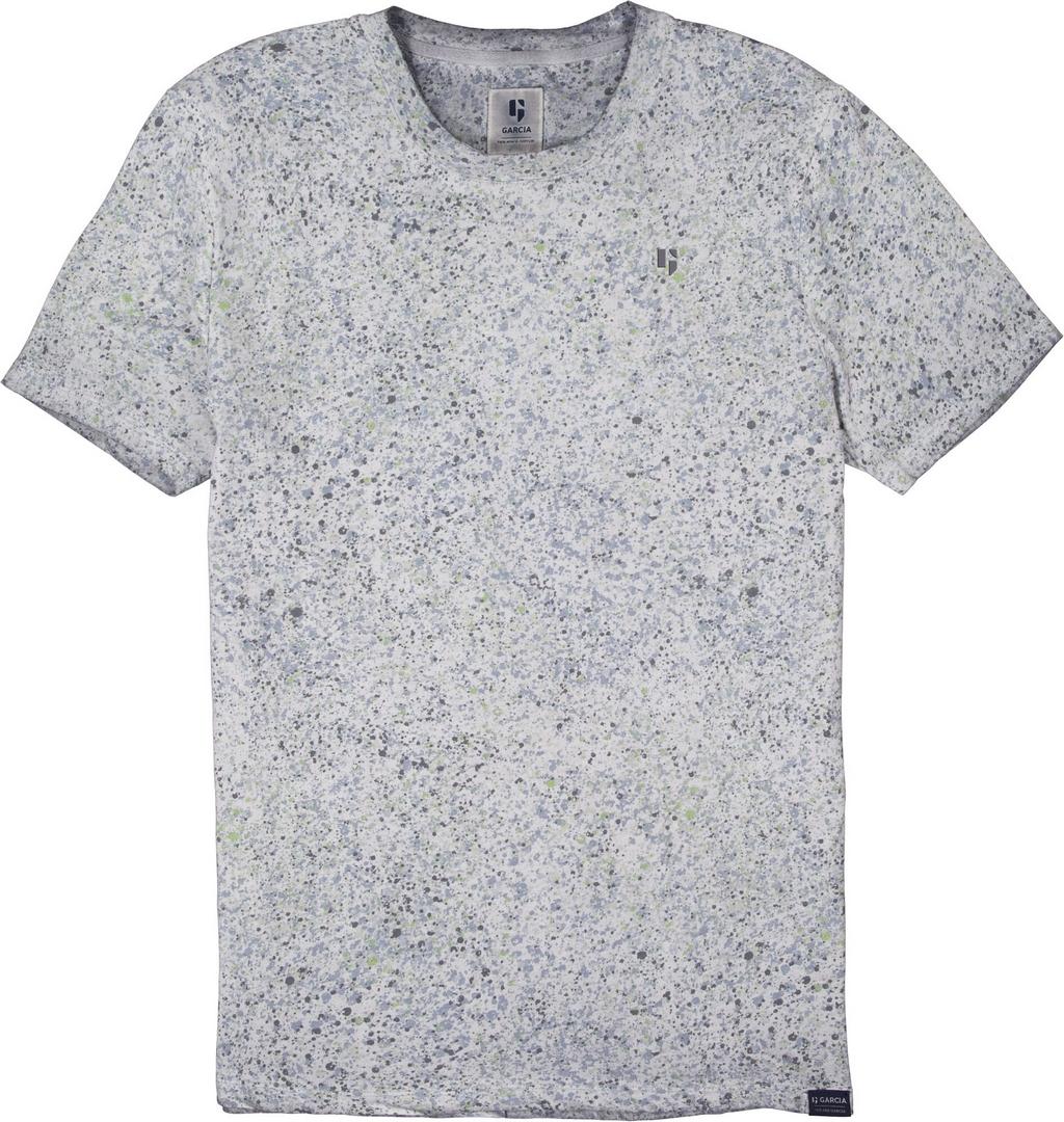 Garcia Herren T-Shirt Shirt kurzarm weiß gemustert D11208 53 off white