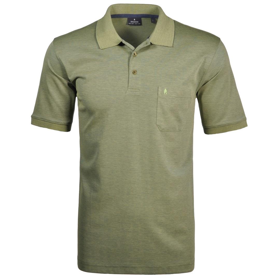 Ragman Herren Polo Shirt Poloshirt Softknit gelb unifarben 540391 521 mais