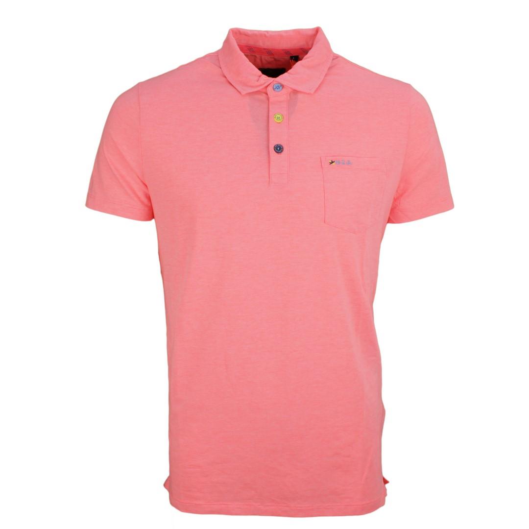 New Zealand Auckland NZA Polo Shirt rosa unifarben 20DN151 632 Bright orange