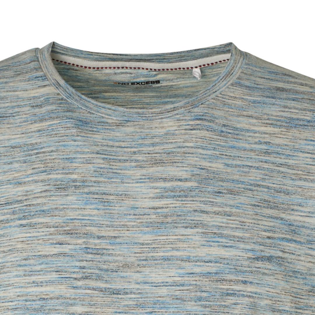 No Excess Herren T-Shirt Shirt kurzarm mehrfarbig meliert 96350505 036