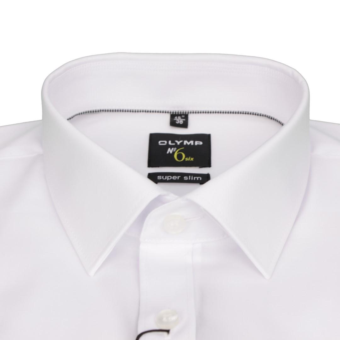 Olymp Super Slim Hemd No. 6 weiß Unifarben 0466 64 00