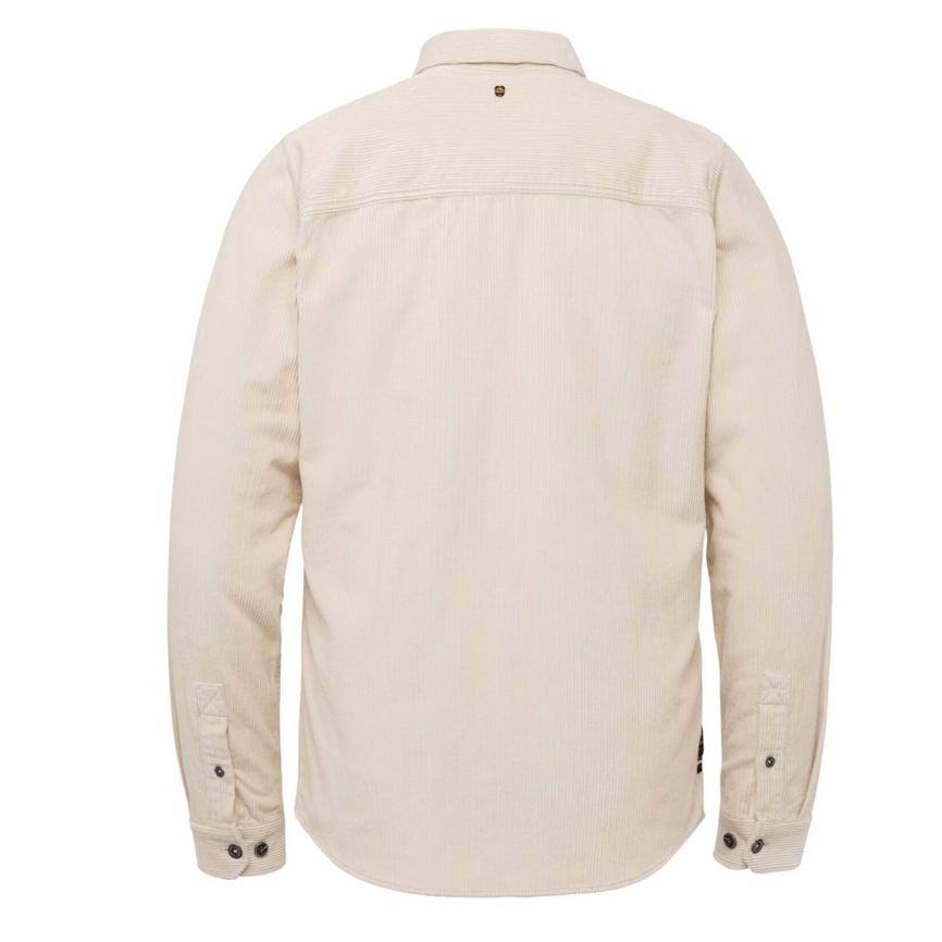 PME Legend Herren Overshirt Long Sleeve Shirt Ribcord fabric PSI216213 7013 bone white