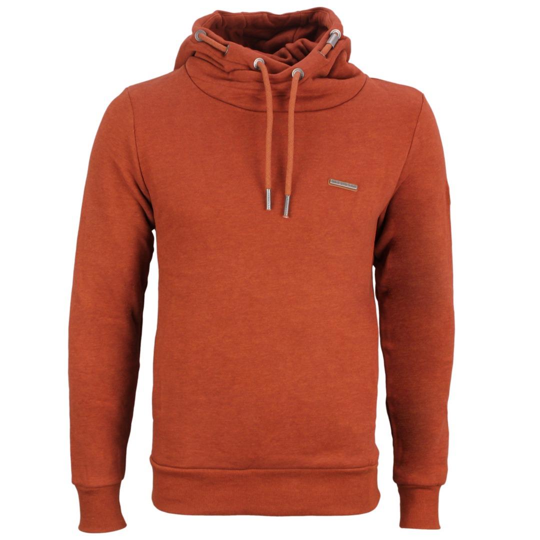 Ragwear Herren Sweat Shirt Kapuzenpullover Hoodie Nate orange 2122 30008 6001 Terracotta
