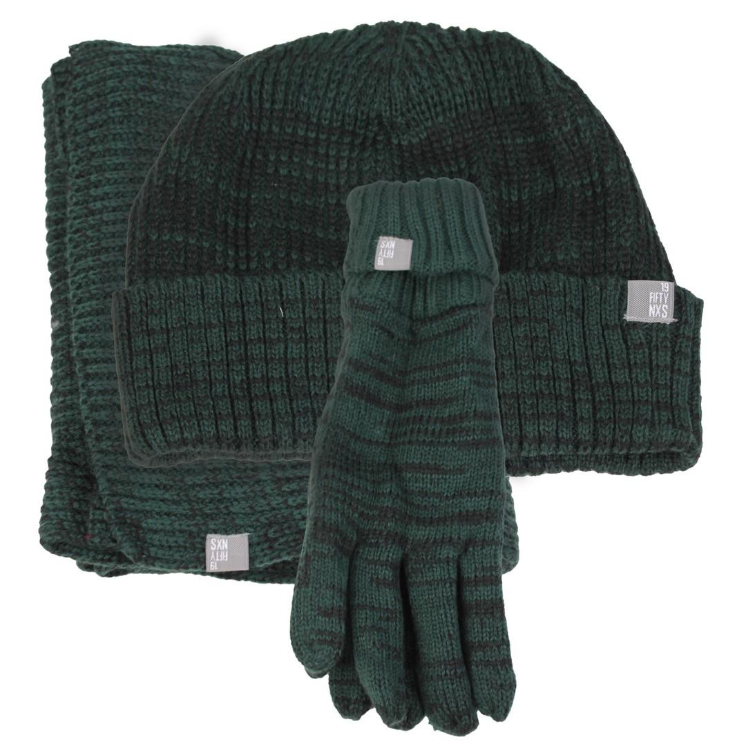 No Excess Schal Mütze Handschuhe Set grün meliert 87950901 154