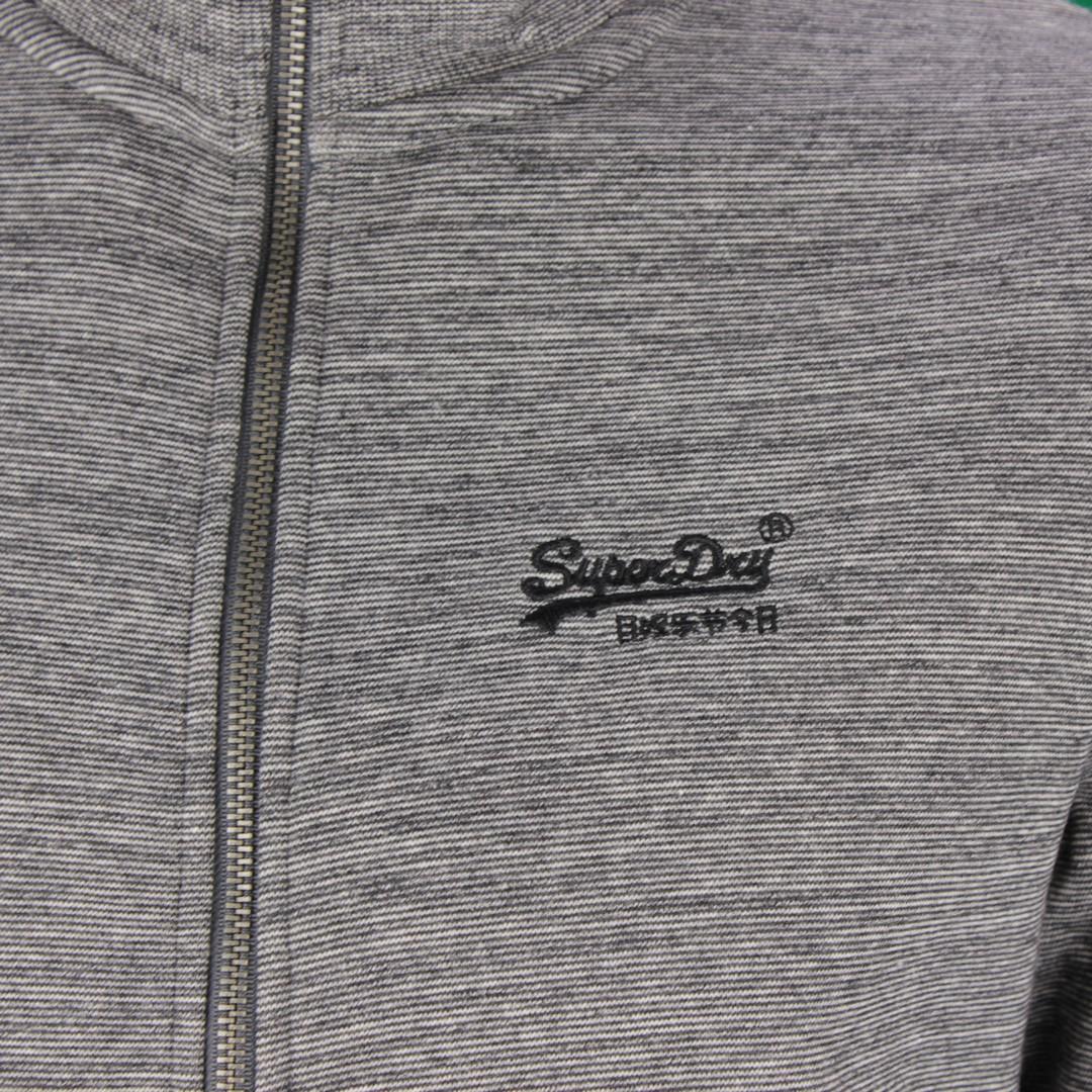 Superdry Herren Sweat Jacke OL Classic Track Top grau M2010373A 4DS Stone grey Feeder