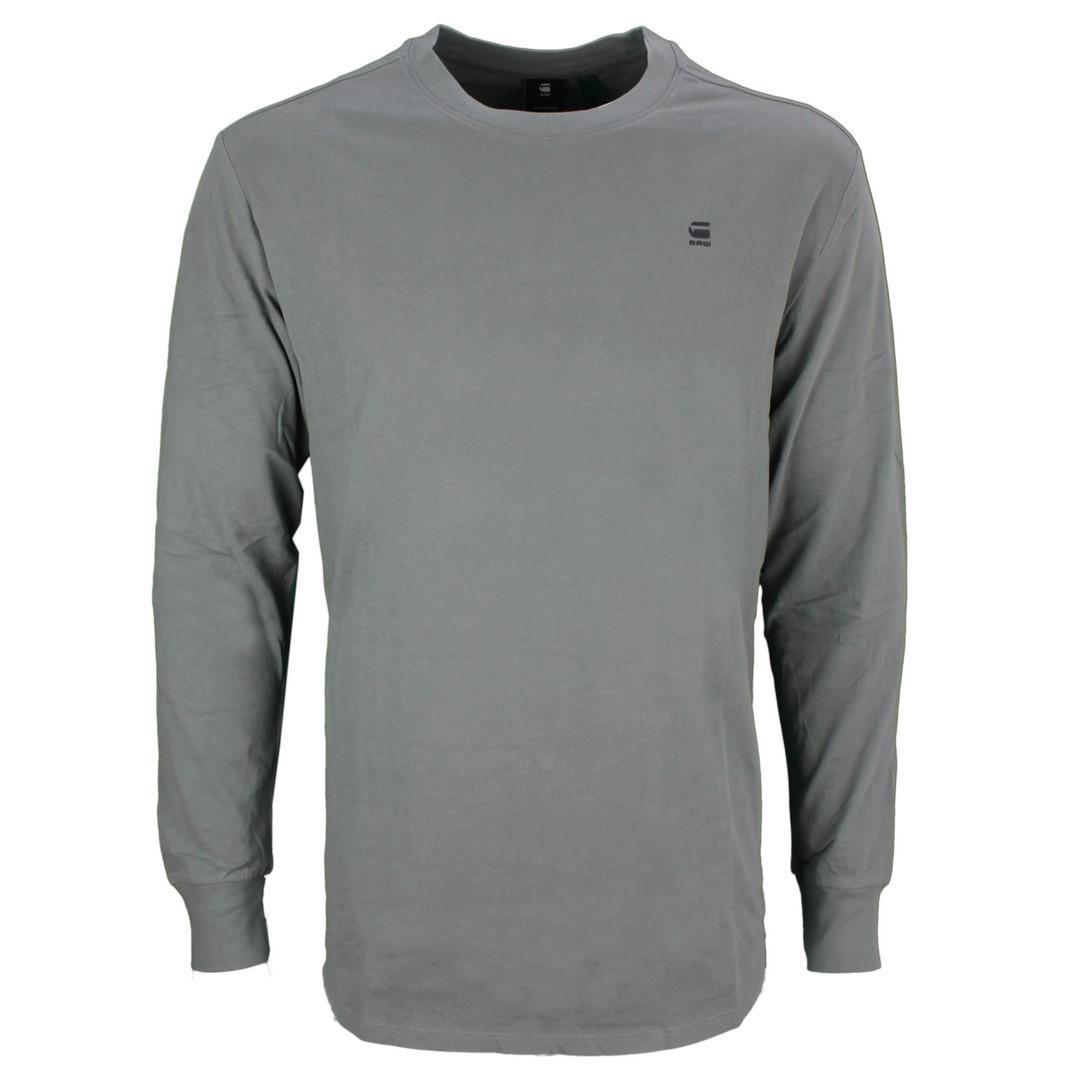 G-Star Raw langarm Shirt Lash grau unifarben D16397 B353 8166 LT Building