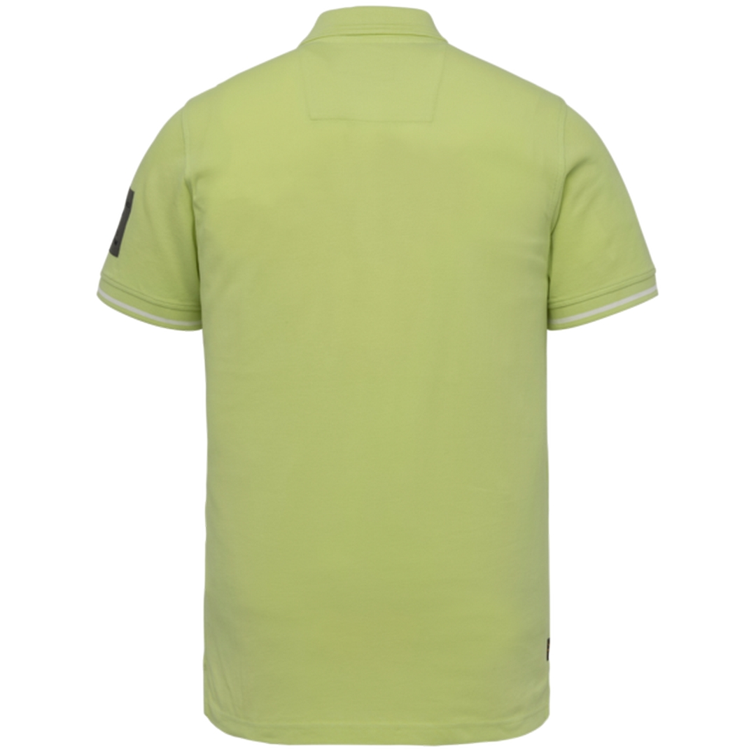PME Legend Polo Shirt Two Tone Pique Shadow Lime PPSS214873 6315